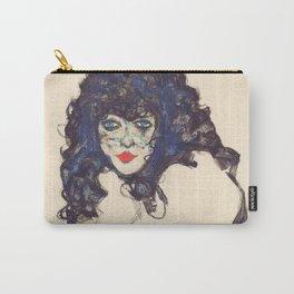 """Egon Schiele """"Frau mit schwarzem Haar (Woman with black hair)"""" Carry-All Pouch"""