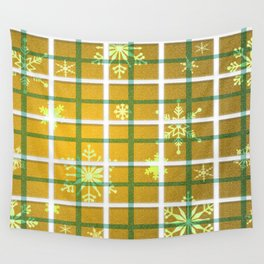 Gamboge Sycamore Snowflakes Wall Tapestry