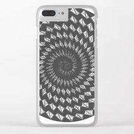 spiral 6 Clear iPhone Case