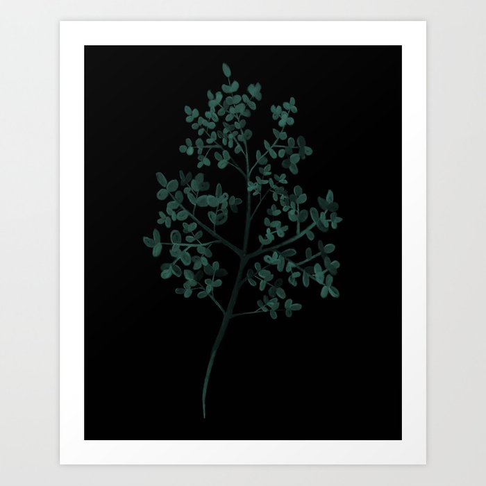 picture regarding Dollar Tree Printable Job Application identified as Silver greenback tree Artwork Print as a result of sparklyunicorn