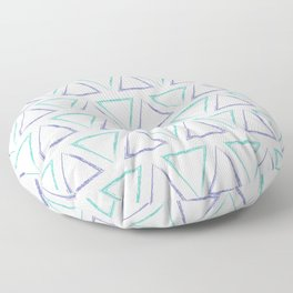 Peaks - Purple & Teal #425 Floor Pillow