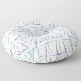 Triangular Peaks Pattern - Purple & Teal #425 Floor Pillow