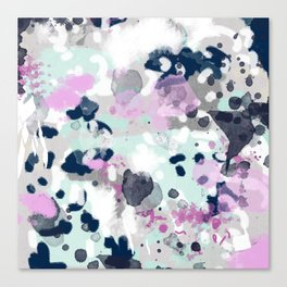 Berti - abstract minimal trendy color palette hipster home decor Canvas Print