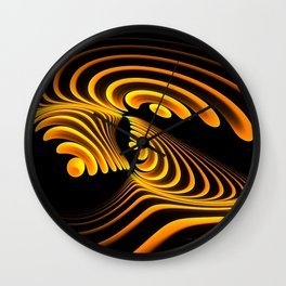 Golden Curl Wall Clock