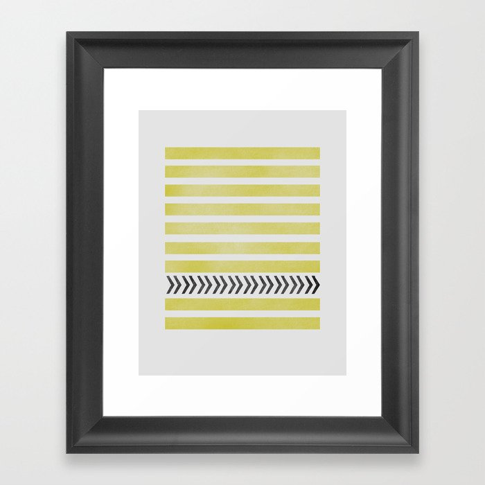 STRIPES AND ARROWS Framed Art Print