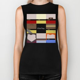 All Good Things - square Minimalist Star Trek TNG The Next Generation 1701 D  startrek  Trektangles Biker Tank