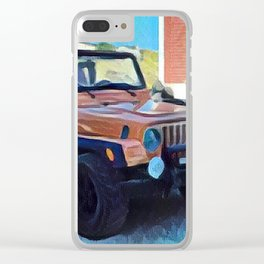 Summer Rides Clear iPhone Case