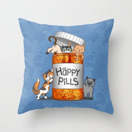 Happy Pills Throw Pillow