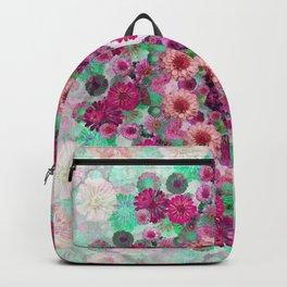 Happy pistachio green background Backpack