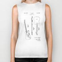 guitar Biker Tanks featuring Guitar by Patent Drawing