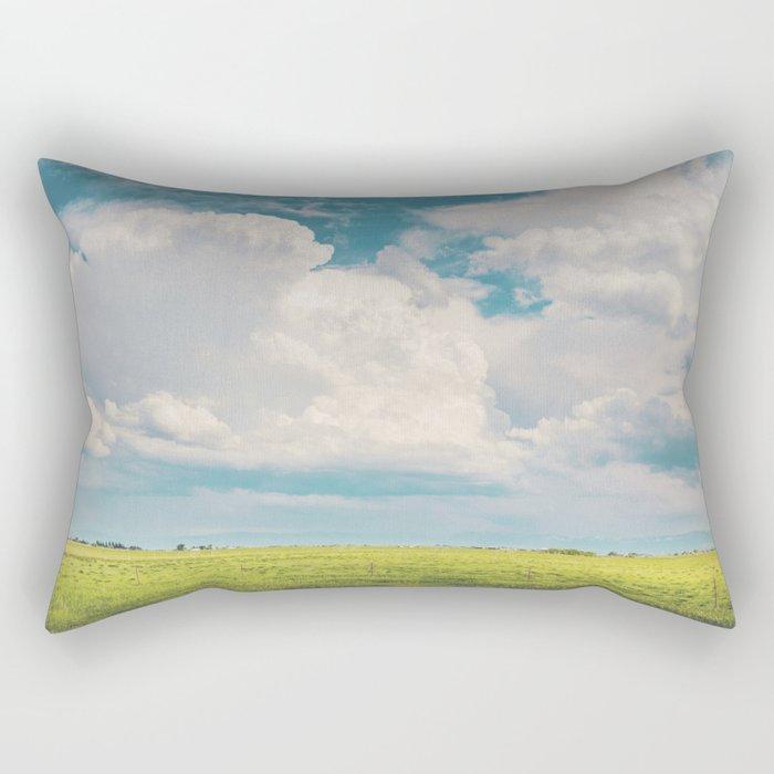 Gallatin County Storm Clouds Rectangular Pillow