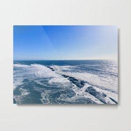 Rocky West Marin Ocean Metal Print