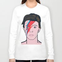 david bowie Long Sleeve T-shirts featuring David Bowie by Alli Vanes