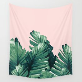 Blush Banana Leaves Dream #3 #tropical #decor #art #society6 Wall Tapestry