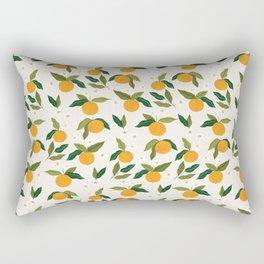 Gouache Oranges Rectangular Pillow