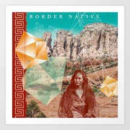Border Native Art Print