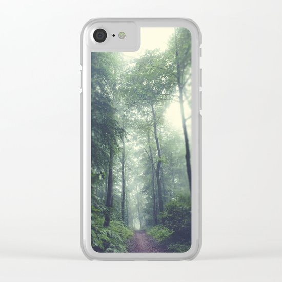 Forest Hike Clear iPhone Case