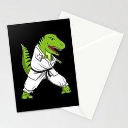 Karate T-Rex Dinosaur Ninja Martial Arts Stationery Cards