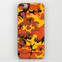Camouflage orange, yellow, black iPhone Skin