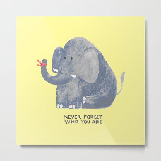 Elephant never forgets Metal Print