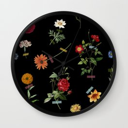 Vertical Garden (Black) Wall Clock