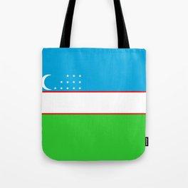 Uzbekistan country flag Tote Bag