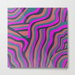 psychedelic zebra Metal Print