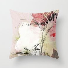 pink splendor Throw Pillow