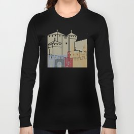 Aosta skyline poster Long Sleeve T-shirt