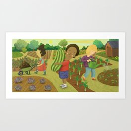 Down on the Allotment Art Print