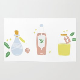 Cute bottles, pastel magic potion Rug