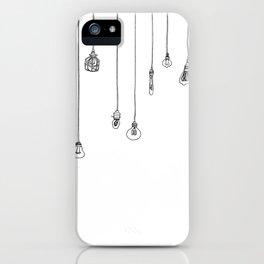 Lightbulbs iPhone Case
