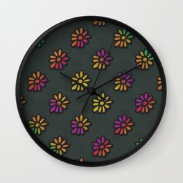 DP038-3 rainbow flowers Wall Clock