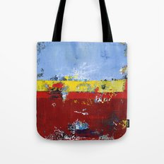Deerfield Red Yellow Blue Abstract Art Primary Colors Tote Bag