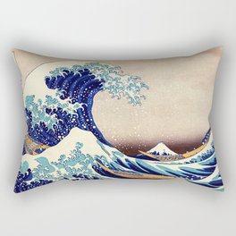Katsushika Hokusai The Great Wave Off Kanagawa Rectangular Pillow