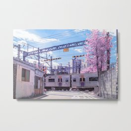 Seoul Anime Train Tracks Metal Print
