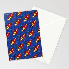 Space Rocket Pattern Stationery Cards
