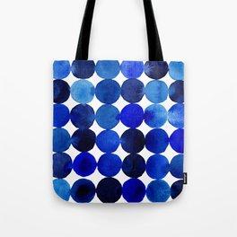 Blue Circles in Watercolor Tote Bag