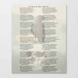 The Raven by Edgar Allan Poe Canvas Print