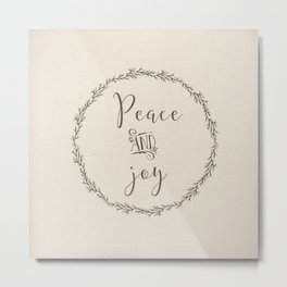 peace and joy Metal Print