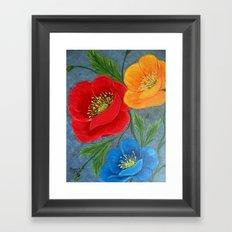 Poppies-3 Framed Art Print