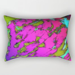 Shattering pink tigers Rectangular Pillow