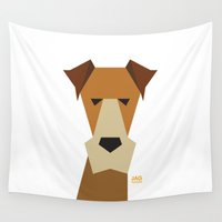 terrier Wall Tapestries featuring Fox Terrier by Page 84 Design