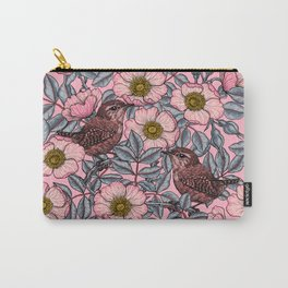 Wrens in the roses Carry-All Pouch