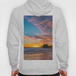 Painted Sky Over Newport Pier Hoody