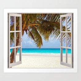 Window on the beach Art Print