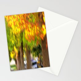 Fall is a Beautiful Blur Stationery Cards
