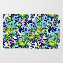 Pansy pattern Rug