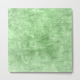 Pistachio Oil Painting Color Accent Metal Print
