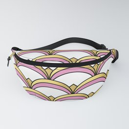 Pink and Gold Art Deco Pattern Fanny Pack
